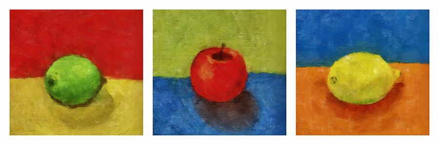 Lime Painting - Lime Apple Lemon by Michelle Calkins
