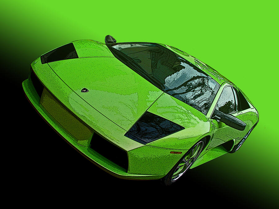 Lime Green Lamborghini Murcielago by Samuel Sheats