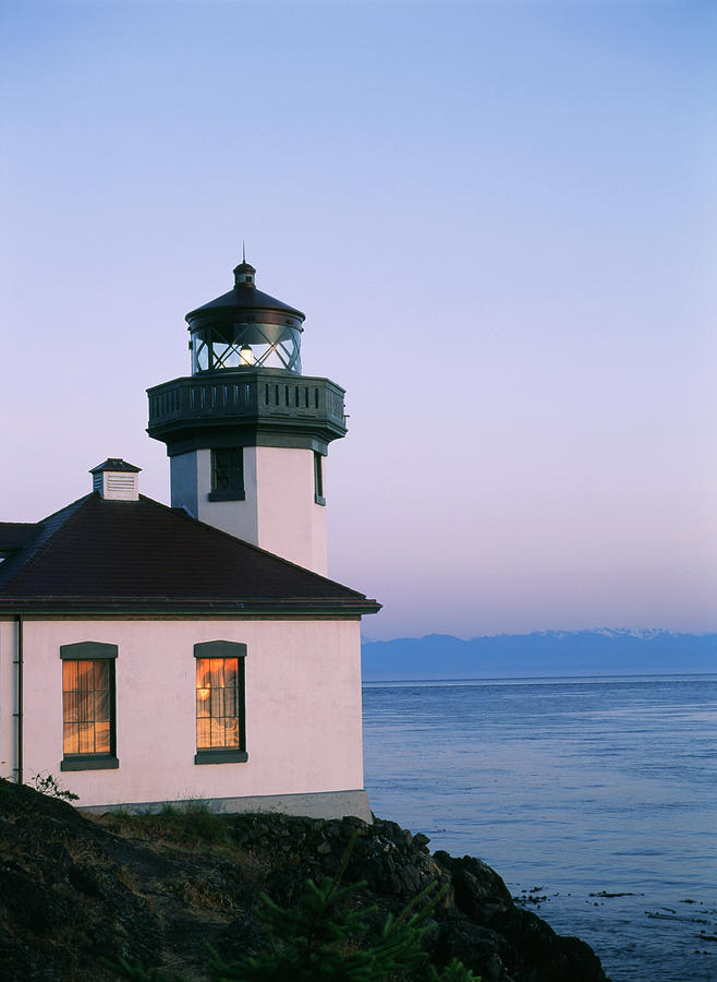 Lime Kiln Lighthouse, San Juan Island Photograph by Danita Delimont