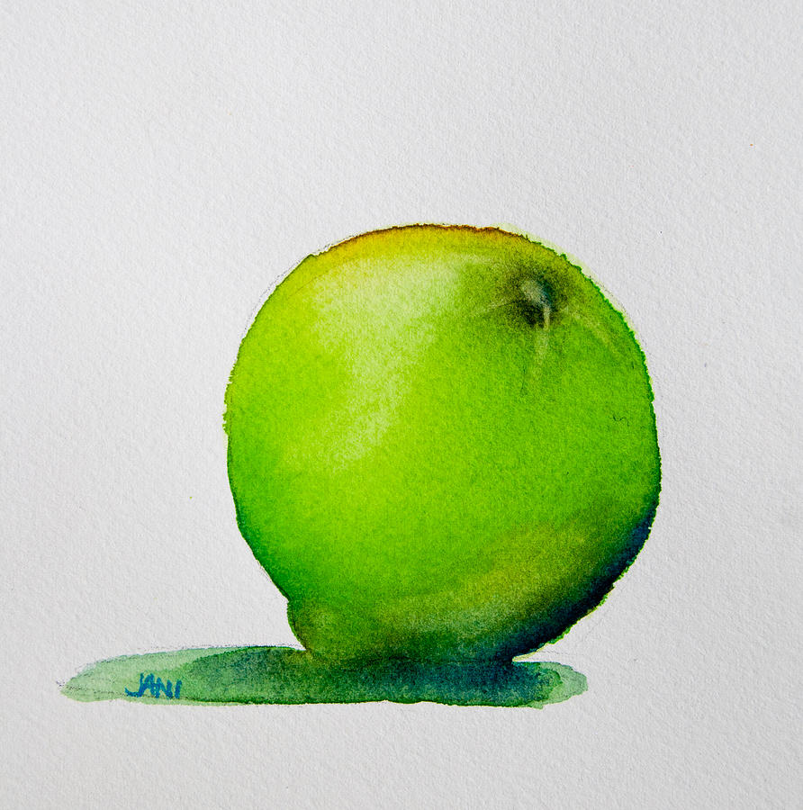 Food Painting - Lime Study by Jani Freimann