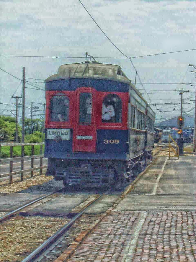 Railroad Photograph - Limited 309 by Thomas Woolworth