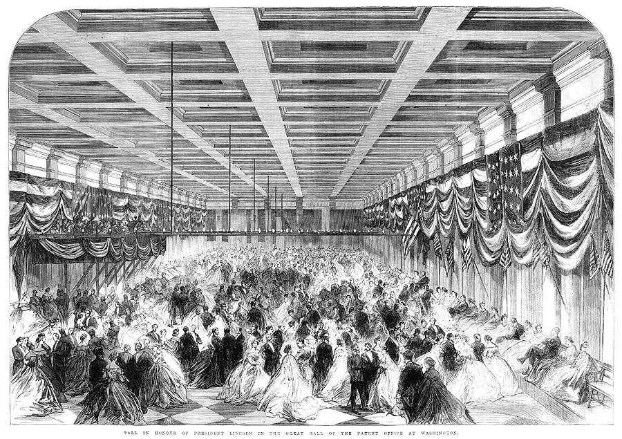 1865 Painting - Lincoln Ball, 1865 by Granger