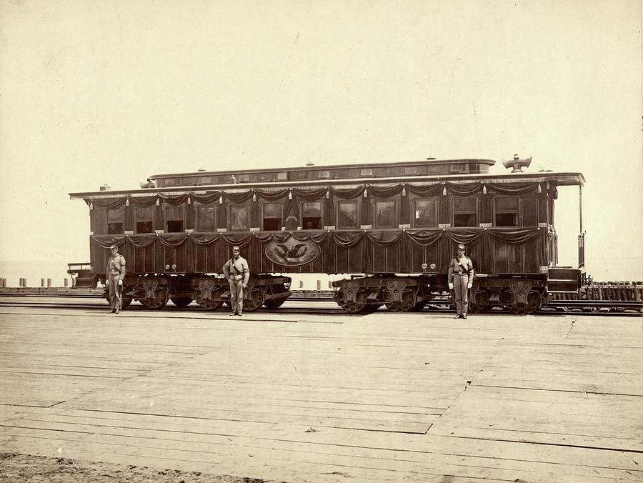 1865 Photograph - Lincoln Funeral Car, 1865 by Granger