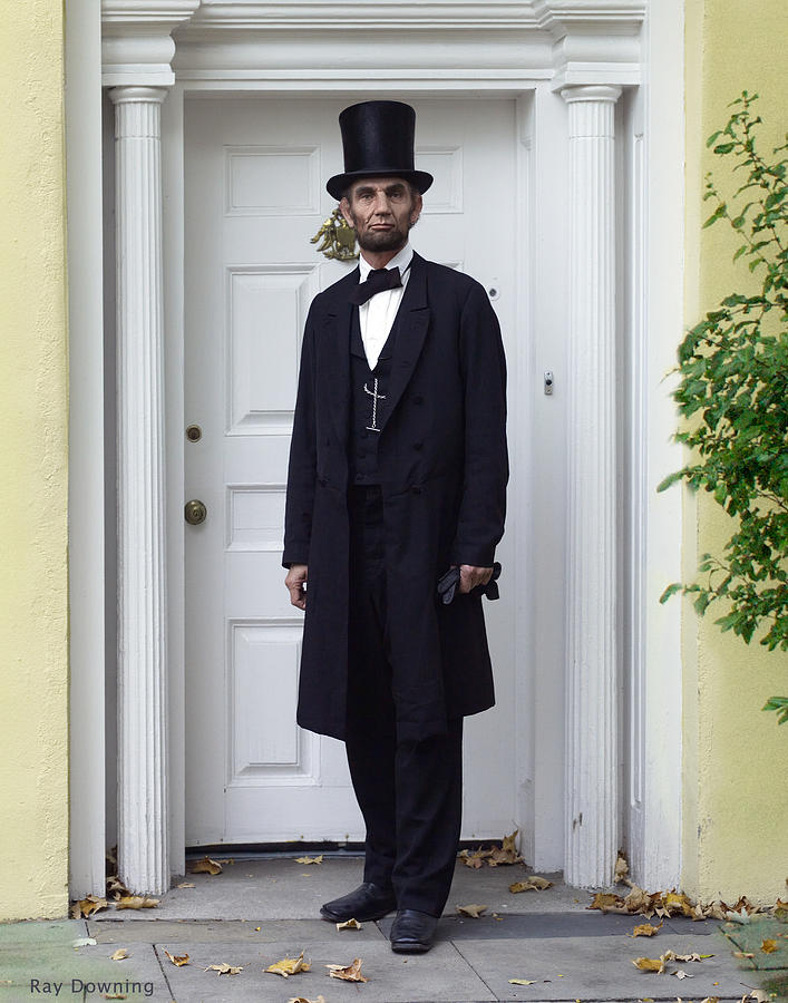 Abraham Lincoln Digital Art - Lincoln Leaving A Building 2 by Ray Downing
