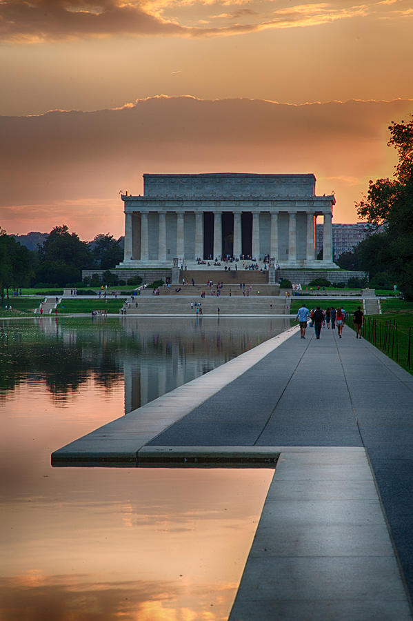 Canvas Lincoln Tech >> Lincoln Memorial At Sunset Photograph by Jack Nevitt