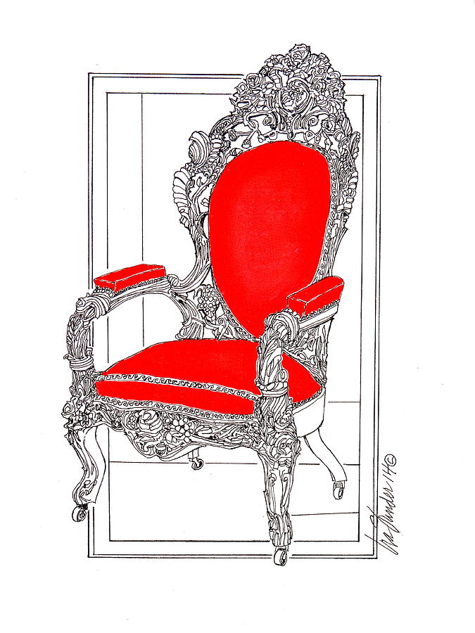 Victorian Furniture Mixed Media - Lincoln Sat Here by Ira Shander