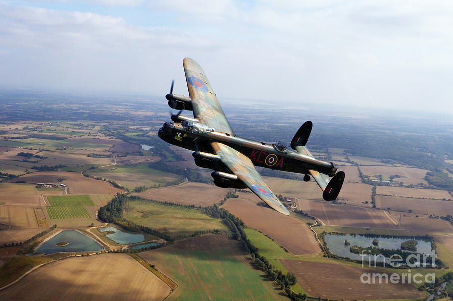 Avro Lancaster Digital Art - Lincolnshire Bomber  by Airpower Art
