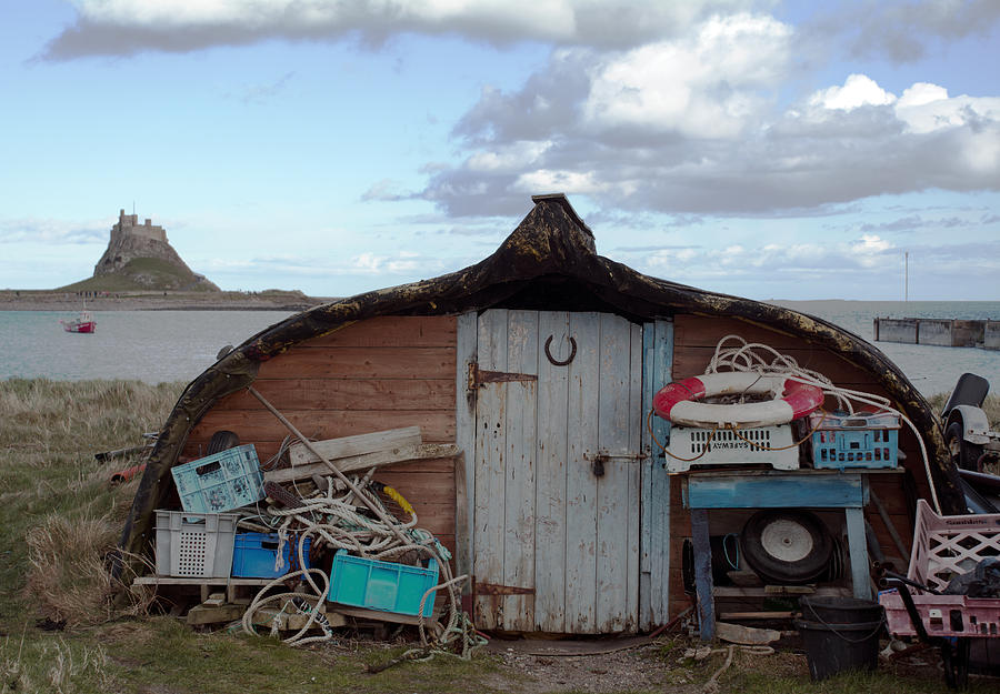 Boat Photograph - Lindisfarne Boat House Holy Island by Michelle Bailey