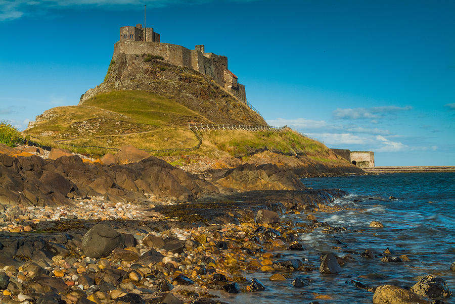 Northumberland Photograph - Lindisfarne Castle by David Ross