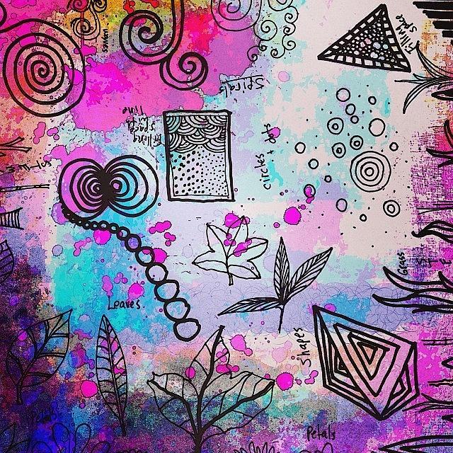 Shape Photograph - #line #color #shape #design #doodles by Robin Mead
