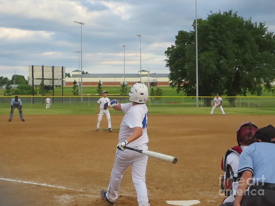 Baseball Photograph - Line Drive by Lne Kirkes