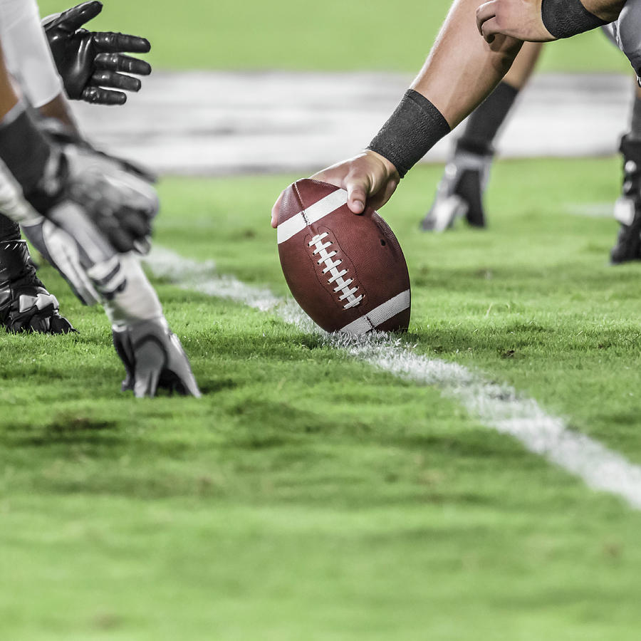 Line Of Scrimmage.  American Football Photograph by David Madison