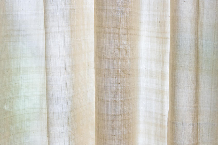 Blond Photograph - Linen Curtain by Tom Gowanlock