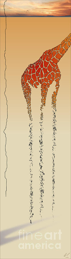 Giraffe Painting - Lines Of Solitude 5 by David Roe