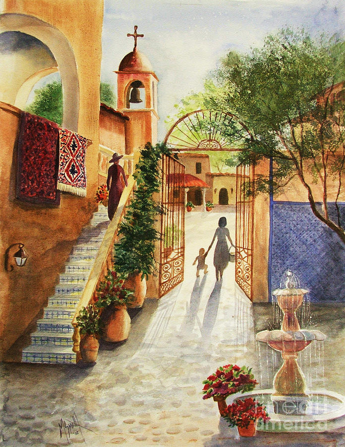 Tlaquepaque Painting - Lingering Spirit-sedona by Marilyn Smith