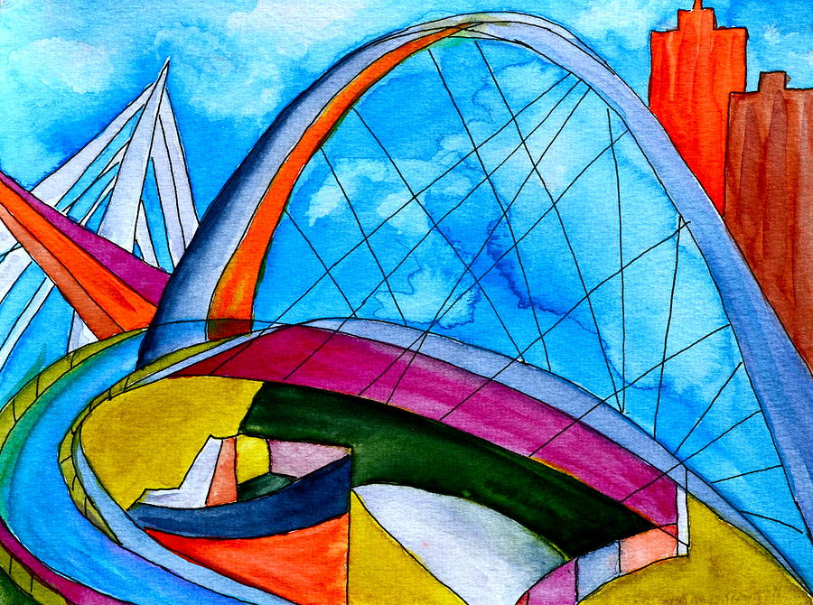 Bridge Painting - Linking by Beverley Harper Tinsley