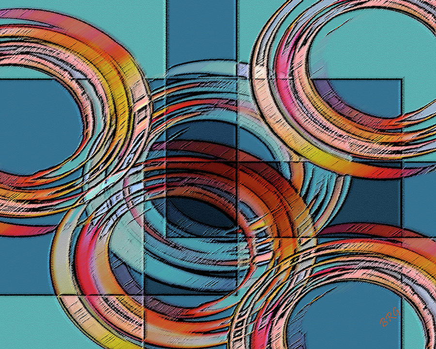 Abstract Digital Art - Links by Ben and Raisa Gertsberg