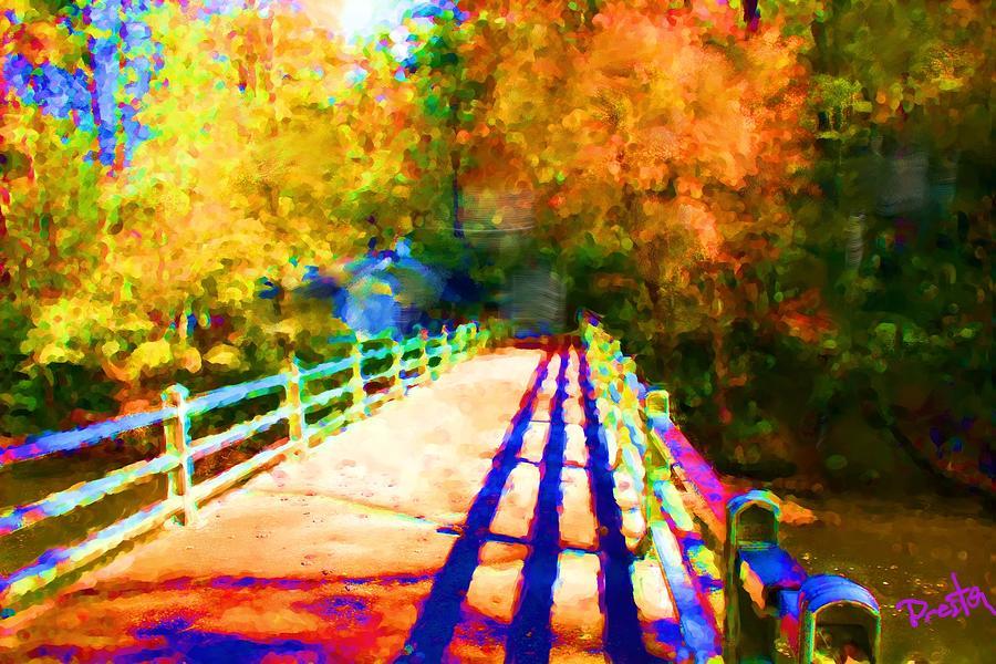 Linville Falls Painting - Linville Falls Bridge by Preston Sandlin