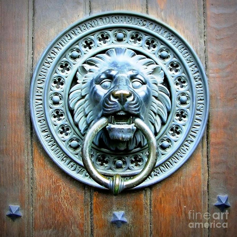 Bon Door Photograph   Lion Door Knocker In Norway By Carol Groenen