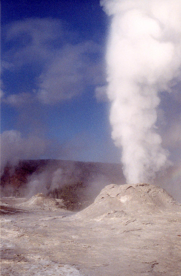 Geyser Photograph - Lion Geyser In Full Vent Mode by Mary Bedy