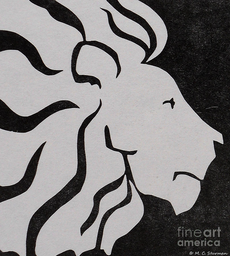 Lion Painting - Lion Graphic King Of Beasts by M C Sturman