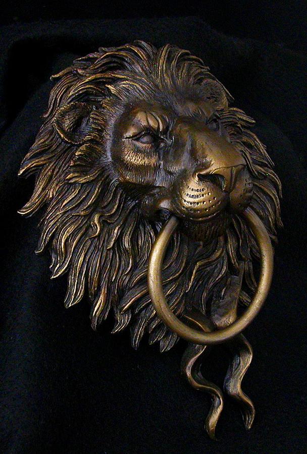 Superieur Bronze Photograph   Lion Head Door Knocker By Karl Sanders