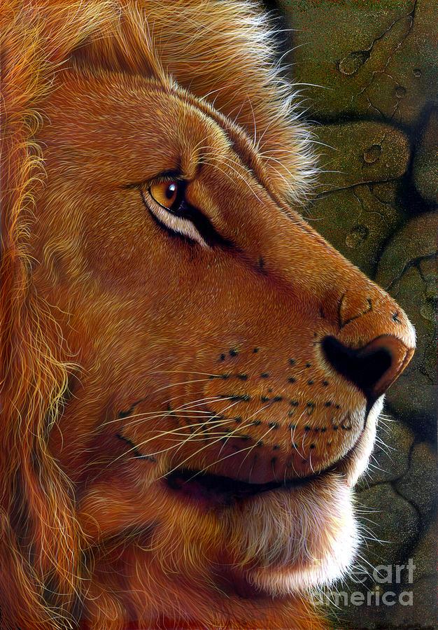 Lion King Painting - Lion King by Jurek Zamoyski