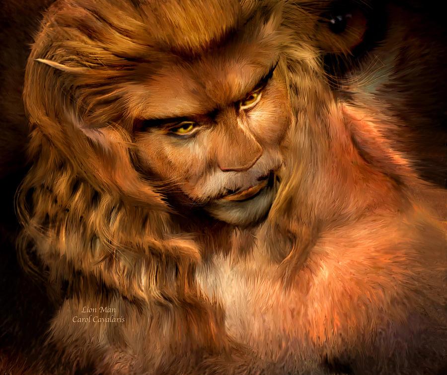 Man Beast Mixed Media - Lion Man by Carol Cavalaris