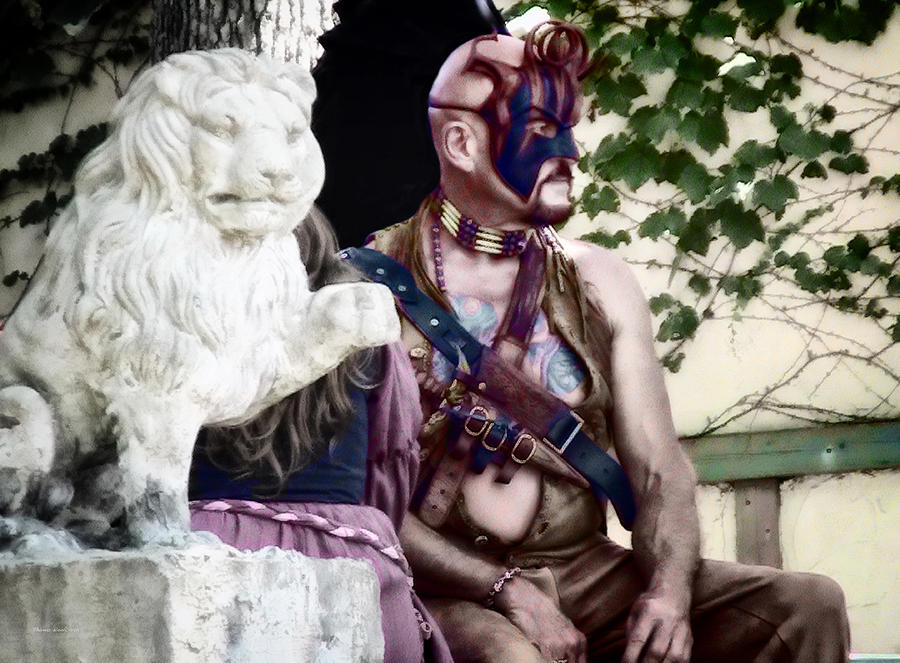 Male Photograph - Lion Man by Thomas Woolworth