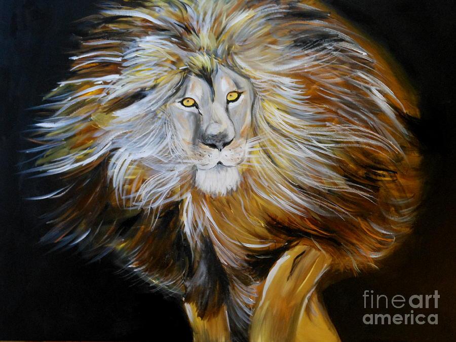 Lion Painting - Lion Of Judah by Amanda Dinan