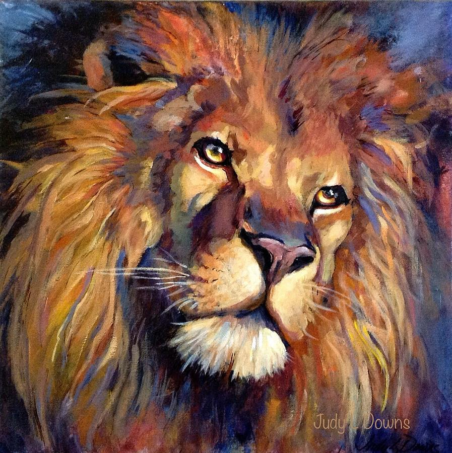 Lion Of Judah Painting by Judy Downs