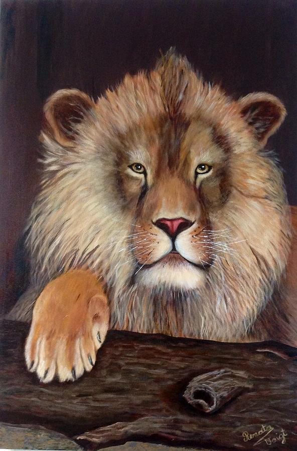 Lion Painting - Lion by Renate Voigt