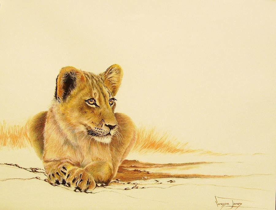 Big5 Painting - Lion Youngster by Vanessa Lomas