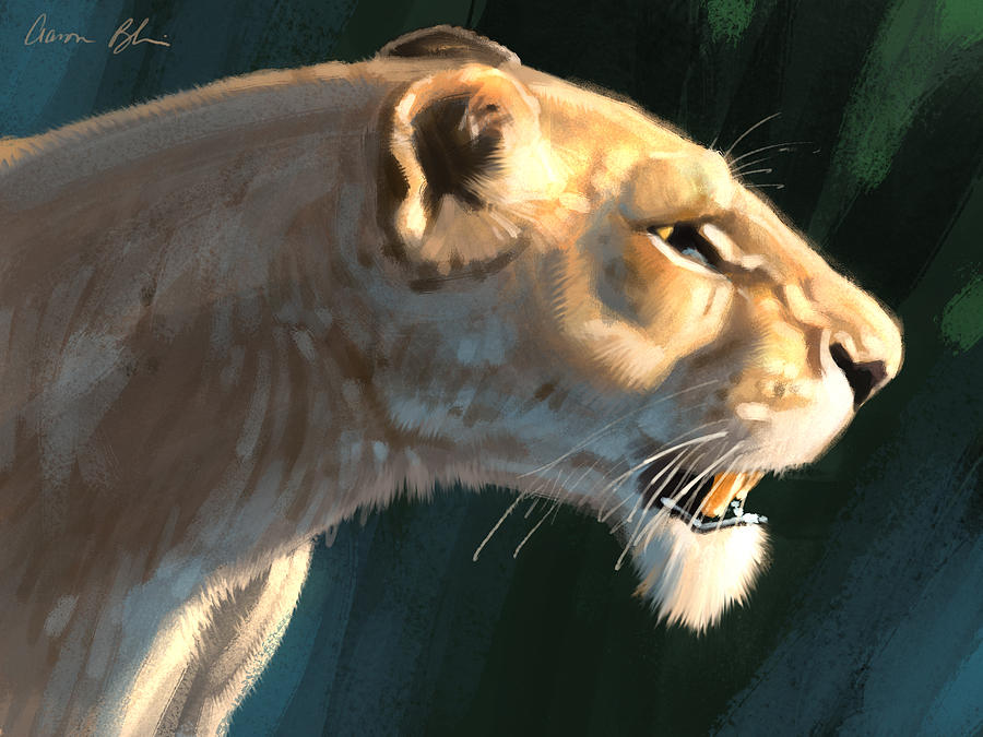 Lioness Digital Art By Aaron Blaise
