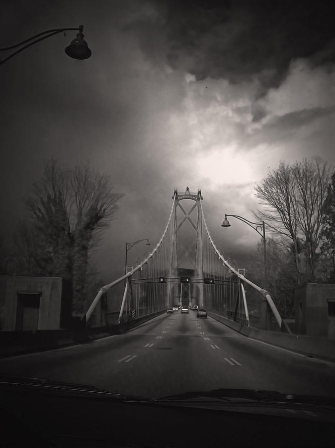 Bridge Photograph - Lions Gate by Janet Kearns