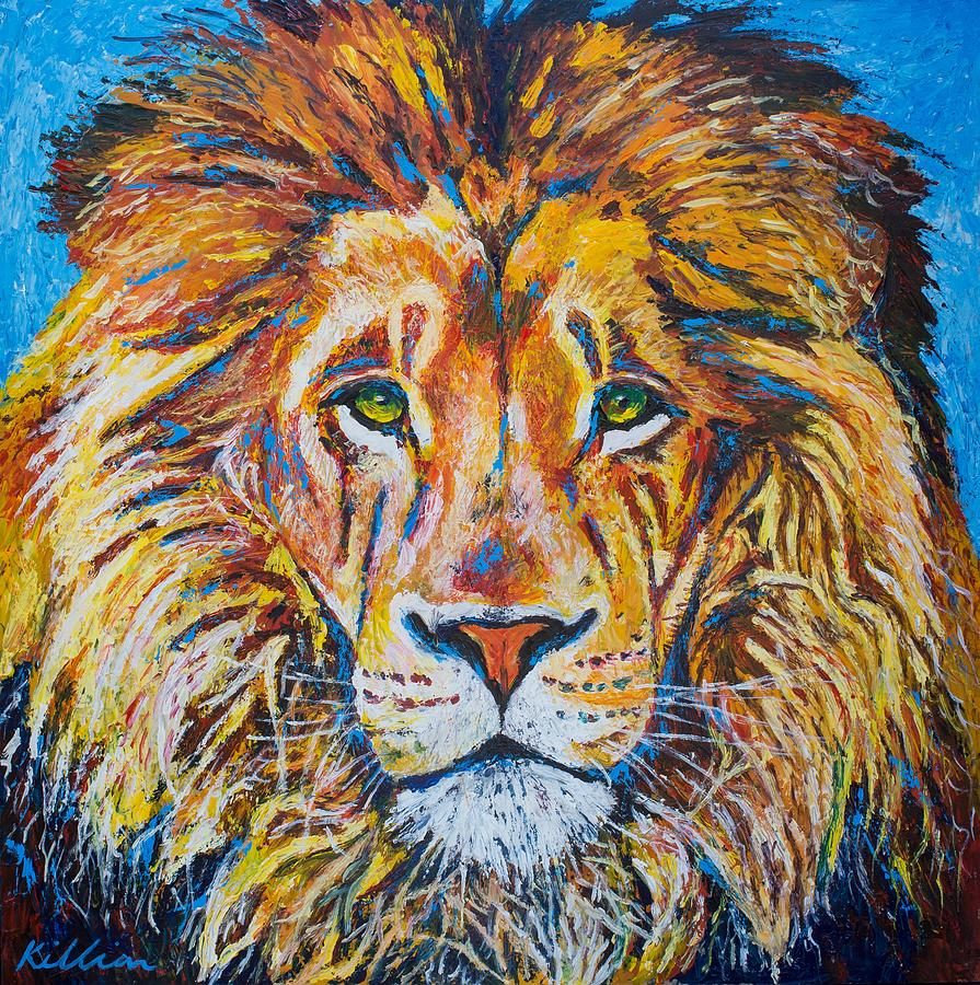 Lions Head Painting by Patrick Killian