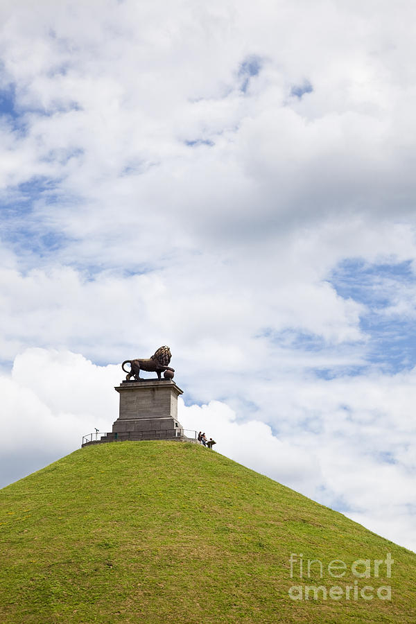 Battle Photograph - Lions Mound Memorial To The Battle Of Waterlooat Waterloo Belgium Europe by Jon Boyes