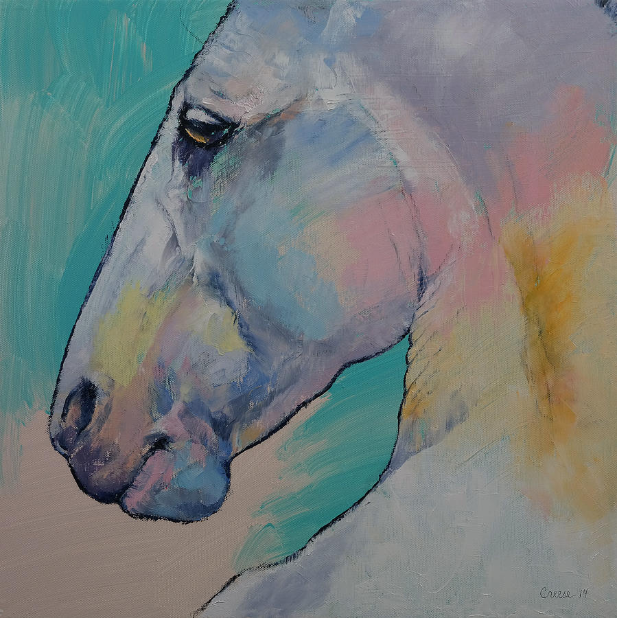 Lipizzan Stallion Painting By Michael Creese