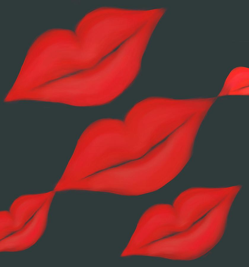 Lips Painting - Lips by Christine Fournier