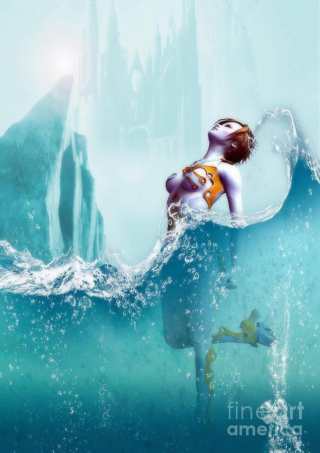 Liquid Digital Art - Liquid Fantasy by Sandra Bauser Digital Art