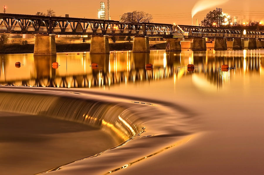 America Photograph - Liquid Gold - Former Tulsa Pedestrian Bridge  by Gregory Ballos