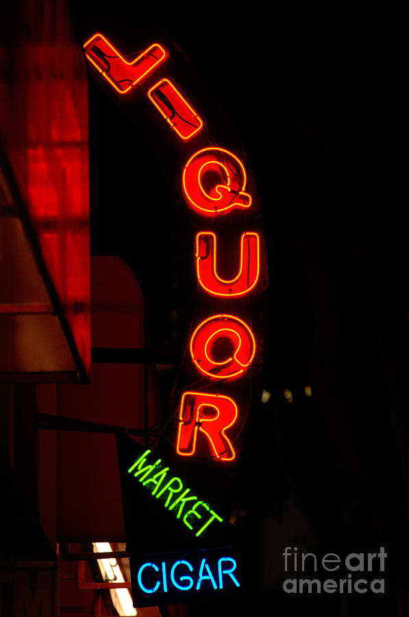 Sunset Strip Photograph - Liquor Market by Lee Roth