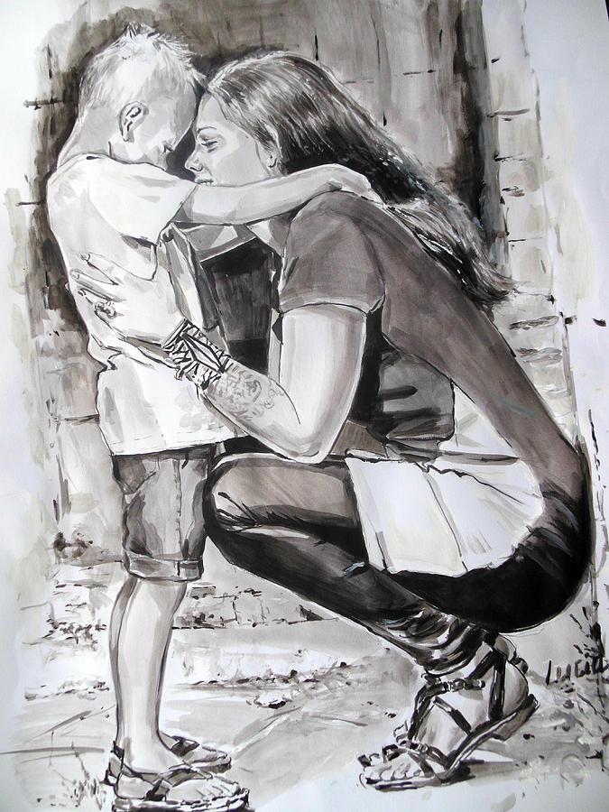 Lisa En Axel Painting by Lucia Hoogervorst