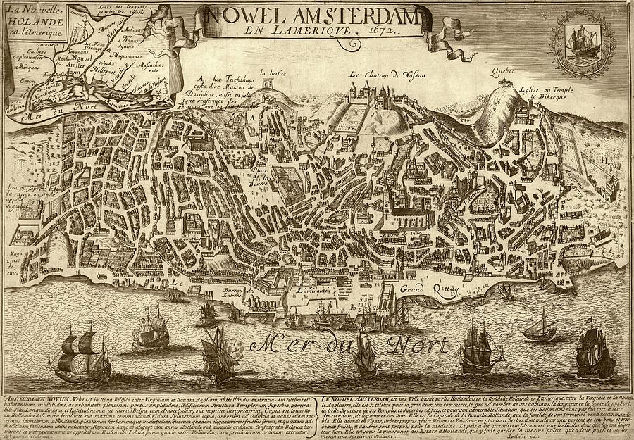 New Amsterdam Photograph - Lisbon As New Amsterdam by Library Of Congress, Geography And Map Division