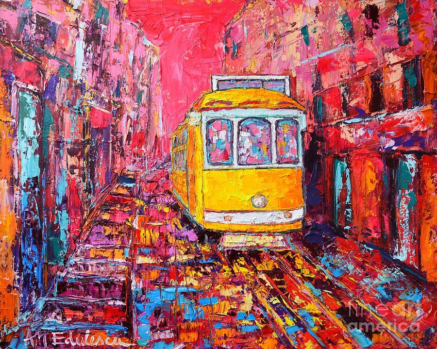 Lisbon Painting - Lisbon Impression by Ana Maria Edulescu