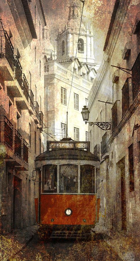 Streetcar Digital Art - Lisbon Streetcar by Daniel Hagerman