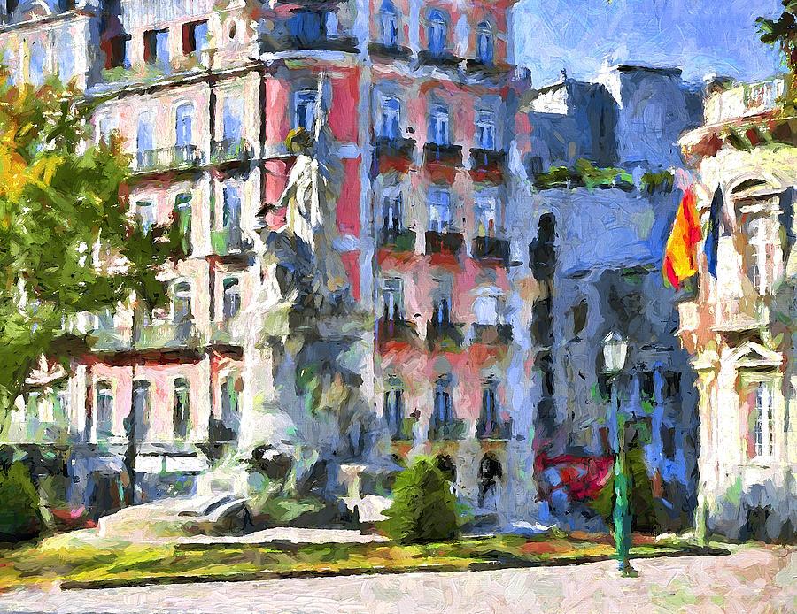 Lisbon Digital Art - Lisbon Streets by Yury Malkov