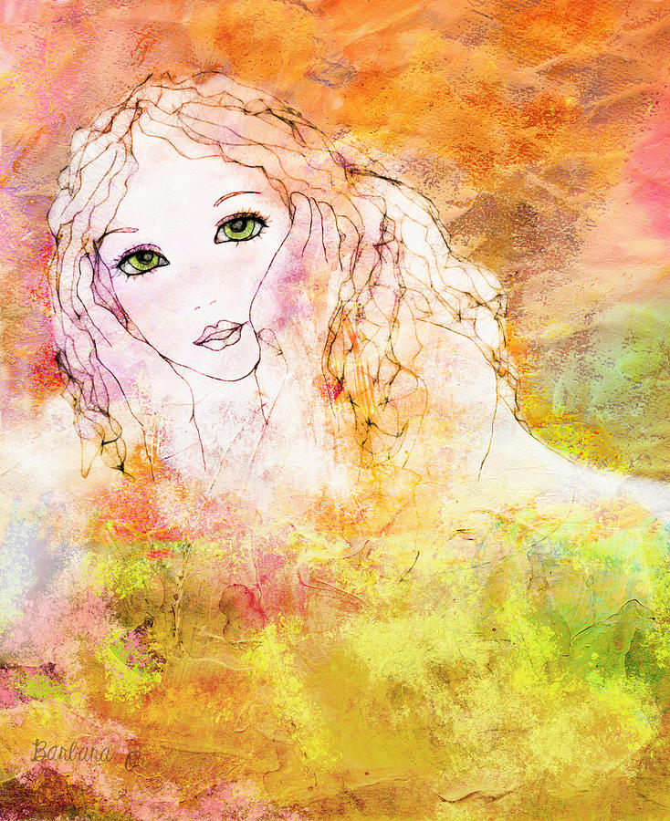 Girl Digital Art - Listen To The Colour Of Your Dreams by Barbara Orenya