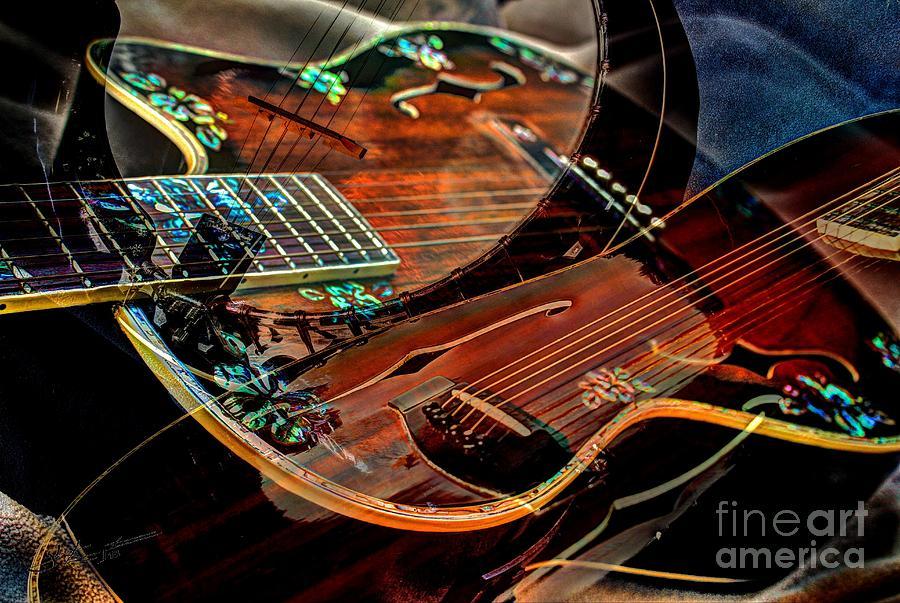 Acoustic Photograph - Listen To The Music Digital Guitar Art By Steven Langston by Steven Lebron Langston