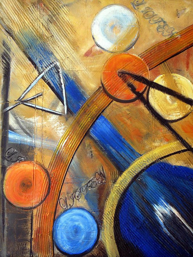Guitar Painting - Listen To The Music by Roberta Rotunda